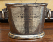 Sale 8677B - Lot 593 - A French metal champagne bucket, Alfred Gratien of Epernay, Width 27cm