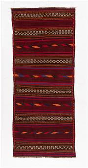 Sale 8790C - Lot 113 - A Turkish Hand-Woven Kilim 100% Wool, 260 x 100cm