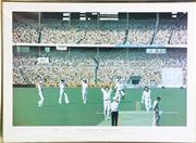 Sale 8927 - Lot 2100 - Dennis Lillee The Dennis Testimonial 1977 Signed Limited Edition Print By John Bloomfield (53cm x 72cm, Edition 763 of 850)