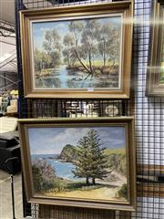 Sale 8978 - Lot 2027 - Eileen Penalver (3 works) Scenes from Gerrigong, oil on canvas board, 43 x 53 cm(1), 50 x 42 cm (2), signed lower right