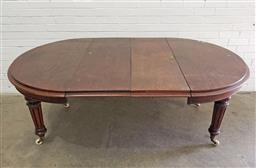 Sale 9102 - Lot 1172 - Mahogany round extension dining table (h:73cm()