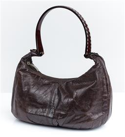 Sale 9091F - Lot 233 - A LANZETTI BY LEXAPEL BROWN CARRY BAG. with one internal pocket