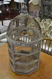Sale 8156 - Lot 1054 - Metalwares Inc Trunk Plant Stands And Birdcage