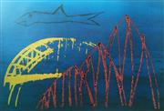 Sale 8297A - Lot 33 - Sidney Nolan (1917 - 1992) - Shark and Harbour Bridge 64 x 89.5cm (sheet size)