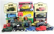 Sale 8376 - Lot 3 - Assorted Model Cars; Matchbox, Vanguards, Days Gone, Solido, Cararama, ERTL, and others, some with boxes (23).