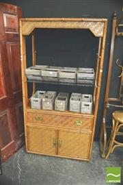 Sale 8371 - Lot 1017 - Bamboo Style Cabinet