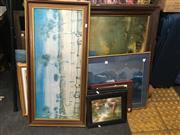 Sale 8759 - Lot 2103 - Collection of Paintings, Prints, Frames etc