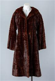 Sale 8828F - Lot 17 - A Vintage Brown Russian Ermine Full-Length Coat By Hammerman Furs, Size Large