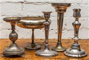 Sale 8942H - Lot 76 - Four candlesticks and a float bowl