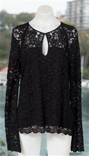 Sale 9044H - Lot 63 - A Diane Von Fürstenberg black lace long sleeve in black, size 14 (new with tags)