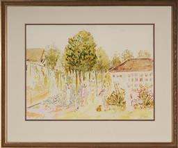 Sale 9147 - Lot 2050 - Artist Unknown - A Day in the Park c1920s 41 x 55 cm (frame: 76 x 63 x 3 cm)