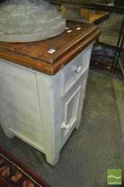 Sale 8331 - Lot 1569 - White Painted Bedside Cabinet
