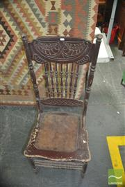 Sale 8331 - Lot 1327 - Pressback American standard chair with original paint finish and cane seat circa 1900
