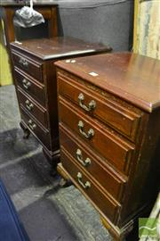 Sale 8472 - Lot 1055 - Pair of Timber Bedside Cabinets