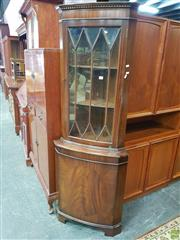 Sale 8566 - Lot 1395 - Timber Corner Cabinet with Astragal Doors (180 x 40 x 65)