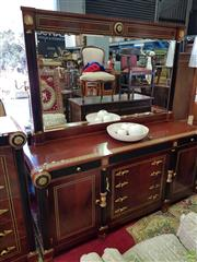 Sale 8566 - Lot 1426 - Inlaid Sideboard with Gilt and Ebonised Detail