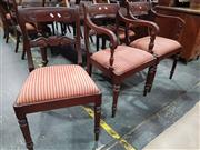 Sale 8724 - Lot 1016 - Set of Eight Regency Mahogany Dining Chairs incl Two Carvers