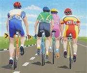Sale 8722 - Lot 525 - Richard Maurovic (1963 - ) - Bicycle Riders II, 2000 59.5 x 71cm