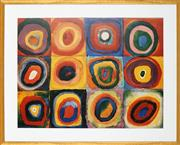 Sale 8888 - Lot 2024 - Wassily Kandinsky - Circles Decorative Print, 87 x 70cm (frame) -