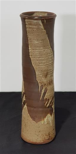 Sale 9171 - Lot 1017A - Tall Studio Pottery Vase in brown tones (h:37cm) -