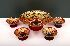 Sale 3650 - Lot 19 - A NINE PIECE VENETIAN GLASS FRUIT SERVICE