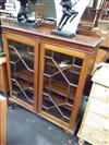 Sale 7919A - Lot 1163 - Mahogany Glass Front Display Cabinet w Astragal Doors