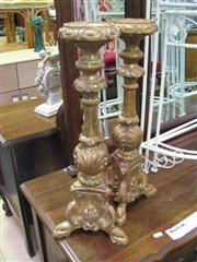 Sale 7932A - Lot 1154 - Pair of Gilded Candleholders