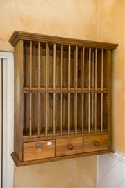 Lot 57 25 August 2013. A timber plate rack & Belrose Home Contents Auction - View Saturday 10am-5pm \u0026 Sunday from ...