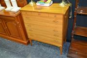 Sale 8046 - Lot 1007 - Very Good 1960s Teak Chest of Drawers by Alfred Cox