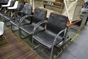 Sale 8093 - Lot 1062 - Set of 6 Cantilever Dining Chairs