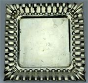 Sale 8130 - Lot 7 - Austro-Hungarian Silver 935 Standard Square Dressing Table Tray