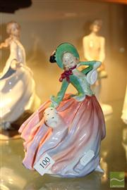 Sale 8288 - Lot 100 - Royal Doulton Figure Autumn Breezes