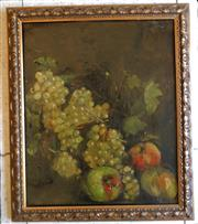 Sale 8312A - Lot 47 - French School (Antique) - Still Life Fruit 46 x 38cm