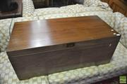Sale 8326 - Lot 1732 - Lift Top Trunk w Dovetail Joins