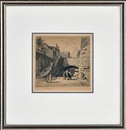 Sale 8382 - Lot 589 - Lionel Lindsay (1874 - 1961) - Untitled (Argyle Cut) 13.5 x 14.5cm