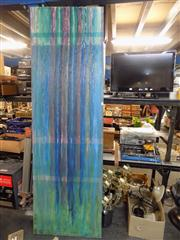 Sale 8437 - Lot 2063 - Striped Abstract signed LR Monk