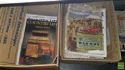 Sale 8537 - Lot 2355 - 2 Boxes of Country Life Magazines incl. 30s