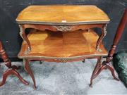 Sale 8700 - Lot 1002 - Mahogany French Brass Etagere with Ormolu Mounts