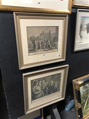 Sale 8861 - Lot 2091 - Pair of Engravings After Nicolas Poussin and Alexander Veronese