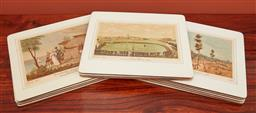 Sale 9108H - Lot 75 - A group of pictorial place mats.