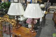Sale 8251 - Lot 1074 - Pair of Wrought Iron Based Lamps (5557)