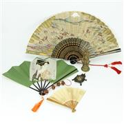 Sale 8304A - Lot 83 - Oriental Fans with Other Small Wares incl Figures