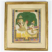 Sale 8399 - Lot 55 - Indian Watercolour Bahuchara Mata