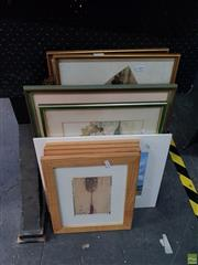 Sale 8609 - Lot 2059 - Assorted Artworks including Chinese Ink Paintings & 2 Watercolours