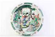 Sale 8810 - Lot 35 - Kangxi Marked Bowl with Music Theme, Dia; 28cm