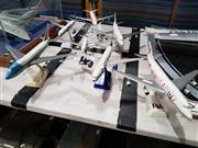 Sale 8809B - Lot 660 - Collection of 7 Small Model Aircraft on Stands