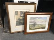 Sale 8811 - Lot 2083 - 2 Watercolours - Still Life & Countryscape