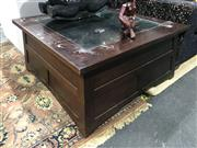 Sale 8893 - Lot 1017 - Glass Top Coffee Table with Drawers