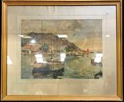 Sale 8949 - Lot 2024 - Neipens - Boats in Harbour Print