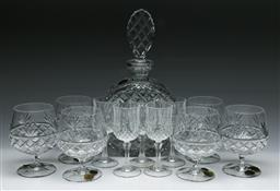 Sale 9136 - Lot 287 - Bohemian Crystal Decanter, Two Boxes of Brandy Balloons & Five Other Glasses